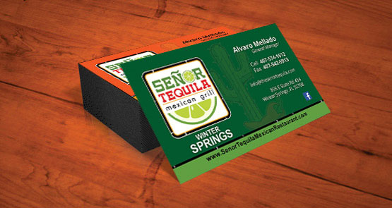 Print business cards cocoa florida printing and design senor tequila business card design reheart Choice Image