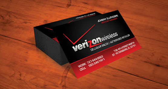 Print business cards cocoa florida printing and design verizon wireless business card design reheart Choice Image